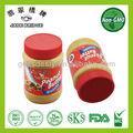Alta calidad de mantequilla de maní / pasta tarro crujiente sabor