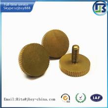 customized fasterner brass knurled thumb screw m5