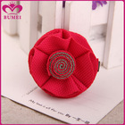 Handmade fabric red flower hairgrip