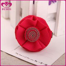 Handmade fabric red flower hairgrip