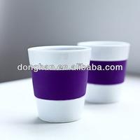 Single color ceramic Insulated mugs with stoneware