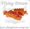 pit bike CNC racing footpeg orange