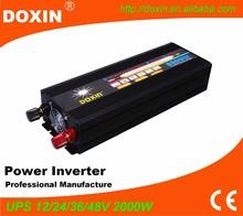 single phase 12v 220v inverter 2kw ups power supply inverter with charger 2000w