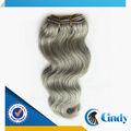 24 zoll menschlichen haare flechten erweiterung grau menschliches haar