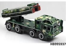 4 pcs three-dimensional puzzle (Intercontinental missile truck)