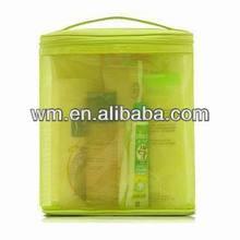 Fashion foldable nylon mesh cosmetic bag with good quality