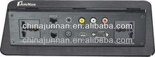 Furniture Hidden desktop socket with USB/ RCA/ VGA/ data/ audio