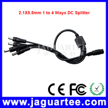 12V 2.1x5.5mm 1 to 4 Way DC Power Splitter Cable for CCTV Camera