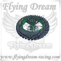 Pit bike verde traseiro rodas de liga leve com pneus kenda 12 polegadas peças de moto pit, sujeira moto peças, mini moto peças da bicicleta