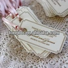 Fasion Full Color Printed Promotion Custom Paper Swing Tags