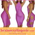 lado desnuda más el tamaño de vendaje de venta al por mayor vestido vestido de noche