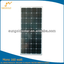 SUNGOLD 160w solar panel sale with high quality