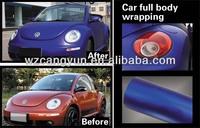 New Style 1.52*20m Car Sticker Matte Blue Metallic