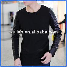 Cheap Men Long Sleeve T-shirts, Men Collar T-shirt, Cotton Blend T-shirt