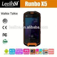 IP67 GSM+3G Android 4.0 GPS Walkie-Talky SOS Runbo x5 king waterproof ip68 rfid tablet