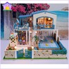 2014 New product Large-scale Luxury DIY wooden doll House You Who Came From The Star