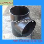 Large diameter reducing tee pipe fitting