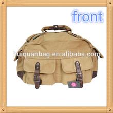 HQD107 duffel canvas overnight bag / canvas weekender duffel bag / cotton canvas duffel bag