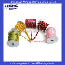 mixed color 5mm nylon twist drawstring cord