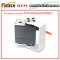 Robot rc servo de piezas de repuesto de 2 u de metal titulares + 2 servo ronda los soportes de montaje