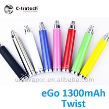 new item 2014 ego twist battery ego 1300mah twist battery