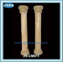 Luxury Yellow Round Stone Driveway Pillars Decor