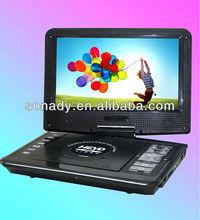 LG design portable dvd player usb/av in/av out with long lasting battery