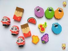 Frutas y hortalizas forma borrador/premio estudiante borrador/de dibujos animados mini goma de borrar