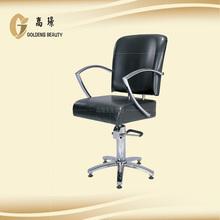 high grade salon chair orange with footstep
