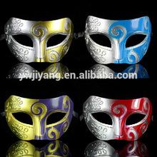 Caliente venta del partido de la mascarada máscara para el hombre plástico máscara de media cara