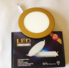 Round led panel light with gold color 12w gold color led ceiling light