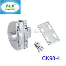 Stainless Steel Swing Door Locks Hardware with Computer Key Way/ Thumb Way Door to Wall CK98-4