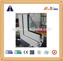 Plastic window, PVC window , own brand PVC 60mm series casement window