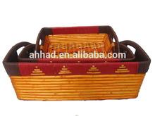decorative wicker tray / wicker fruit tray / wicker serving tray