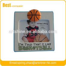 sports ceramic photo frame--IM TOLD BASKETBALL
