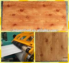 wood grain ppgi galvanized steel coil for Metal roofing sheet