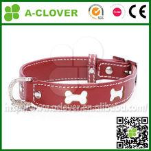 2014 hot selling pierce logo photo at leather pet collar