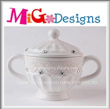 China Manufacture Classic Ceramic White Pot Wedding Decoration Ideas