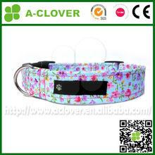 garden flower imprint dog gift soft cotton pet collar