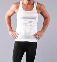 AS SEEN ON TV black white sports running stock plus size xl xxl xxxl vest sale for men slimming body shaper shape wear for men