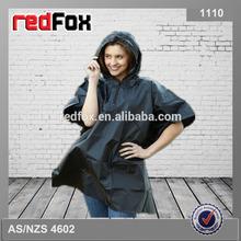 women's high quality rain poncho disposable black