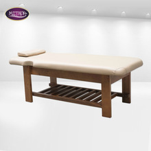 beauty furniture Manufacturer in china spa table no folding wooden massage bed