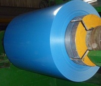 Blue colour coated PPGL or PPGI steel coils for metal roofing material