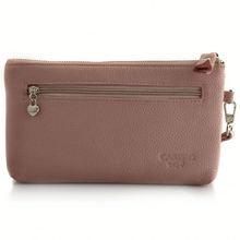 long girls' stitching wallet back in zipper pocket