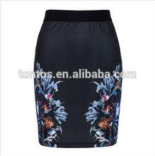 fashion black adult doll girls short tight mini high waist skirt