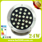 Led fountain pool Lamp 24w underwater light dc12v/24V IP68 swimming pool spot lighting