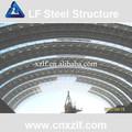 Prefab extra- grande extensão de estrutura leve de aço carport/showroom/armazém