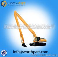 excavator long reach boom&arm,two-segment type long reach boom for excavator