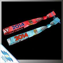 High quality custom events textile wristband