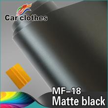 Good Quality 1.52x30m Sticker For Car Wraps Black Vinyl Roll Matt Folie